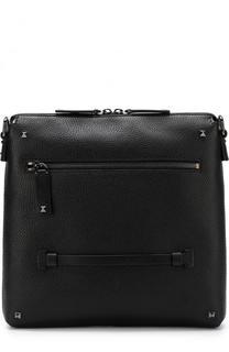 Кожаная сумка-планшет с отделкой Valentino