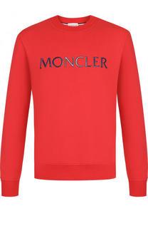 Хлопковый свитшот с логотипом бренда Moncler