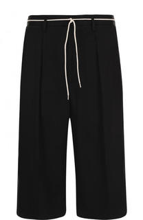 Удлиненные хлопковые шорты с заниженной линией шага Maison Margiela