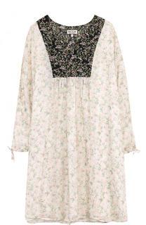 Шелковое мини-платье с принтом Paul&Joe Paul&Joe