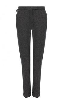 Укороченные брюки из смеси шерсти и шелка с кашемиром Tom Ford