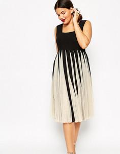 Сетчатое платье с квадратной горловиной ASOS CURVE - Мульти