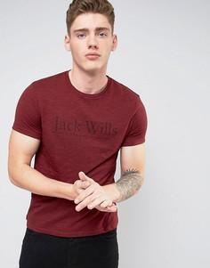 Меланжевая футболка с логотипом Jack Wills Westmore - Красный