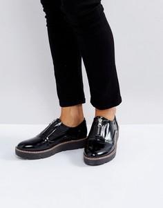 Туфли на платформе с молниями London Rebel - Черный