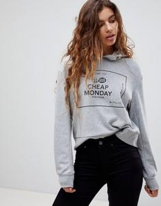 Худи с логотипом Cheap Monday Attract - Серый