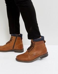 Коричневые кожаные ботинки с джинсовой отделкой Levis Emmerson - Коричневый Levis®