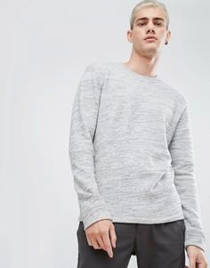 Свитшот с высоким воротом Selected Homme - Серый