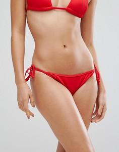 Комбинируемые плавки бикини с ремешками по бокам Boohoo - Красный