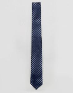 Темно-синий галстук в горошек Selected Homme - Темно-синий