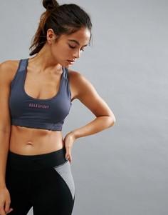 Розовый поддерживающий бюстгальтер Elle Sports - Серый
