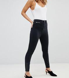 Черные джинсы скинни с завышенной талией ASOS PETITE RIDLEY - Черный