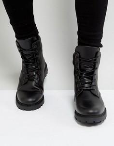 Кожаные ботинки со шнуровкой Zign - Черный