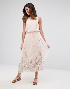 Платье макси с принтом Vero Moda - Розовый