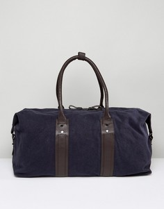 Темно-синяя сумка из парусины и кожи Paul Costelloe - Синий