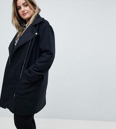 Байкерское пальто Brave Soul Plus Hindon - Черный