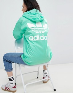 Зеленая куртка oversize с тремя полосками Adidas Originals Nova - Зеленый