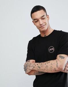 Черная футболка с принтом на спине Stussy - Черный
