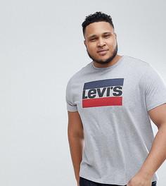 Серая футболка с логотипом Levis PLUS Sportswear - Серый Levis®