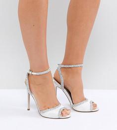 Босоножки на каблуке для широкой стопы с декоративной отделкой ASOS HITCHED - Кремовый