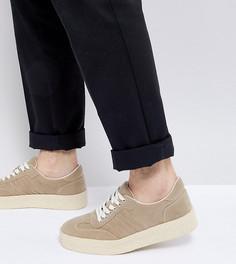 Светло-бежевые кроссовки на толстой подошве ASOS - Светло-бежевый