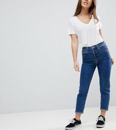 Синие джинсы слим в винтажном стиле с завышенной талией ASOS PETITE FARLEIGH - Синий