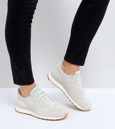 Светлые замшевые кроссовки Nike Internationalist - Кремовый