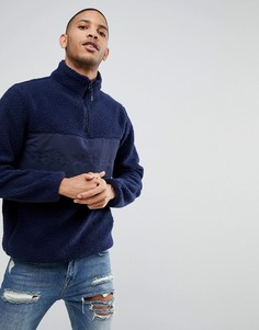 Куртка из мягкого флиса с молнией до груди Bellfield - Темно-синий