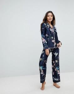 Пижамные штаны с принтом в восточном стиле B By Ted Baker - Синий