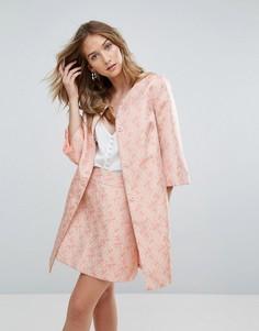 Жаккардовое пальто Traffic People - Розовый