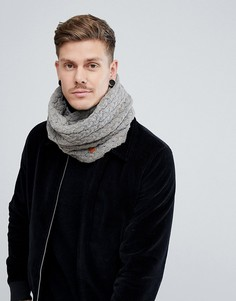 Серый шарф-снуд с узором косичка Dead Vintage - Серый