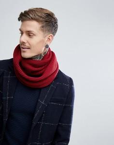 Бордовый шарф-снуд в рубчик Dead Vintage - Красный