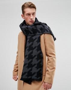 Серый шарф в ломаную клетку Esprit - Серый