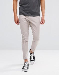 Однотонные брюки Just Junkies - Бежевый