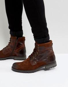 Кожаные ботинки Jack & Jones - Коричневый