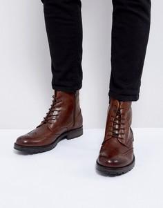 Кожаные ботинки-броги Jack & Jones - Черный