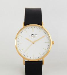 Часы с черным кожаным ремешком Limit эксклюзивно для ASOS - Черный