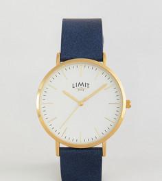 Часы с темно-синим кожаным ремешком Limit эксклюзивно для ASOS - Темно-синий