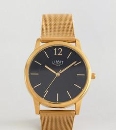 Золотистые часы с черным циферблатом Limit эксклюзивно для ASOS - Золотой