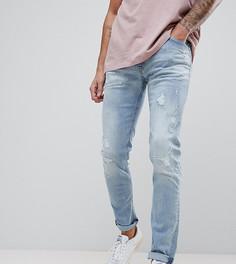 Светлые состаренные джинсы скинни Replay Jondrill - Синий