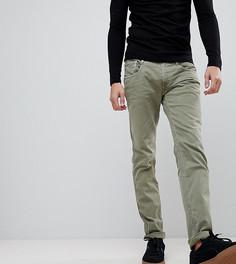 Узкие джинсы слим цвета хаки Replay - Зеленый