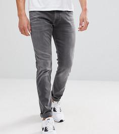 Серые узкие джинсы с эффектом кислотной стирки Replay Anbass - Серый