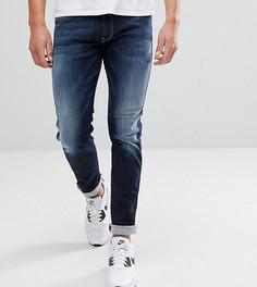 Узкие джинсы Replay Hyperflex Anbass - Темно-синий