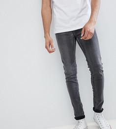 Серые выбеленные джинсы скинни Liquor N Poker TALL - Серый