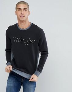 2-цветный свитшот Wrangler - Черный