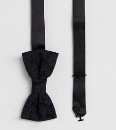 Галстук-бабочка из ткани с добавлением шерсти и принтом Heart & Dagger - Черный