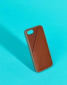 Светло-коричневый чехол для iPhone 7 с отделением для карт Native Union Premium - Мульти