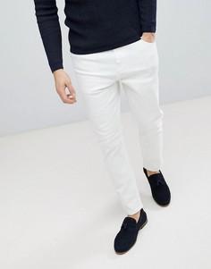 Белые зауженные джинсы ASOS - Белый