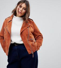 Замшевая куртка ASOS CURVE - Коричневый