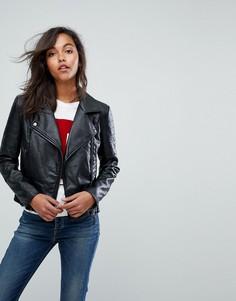 Куртка из искусственной кожи Tommy Jeans - Черный