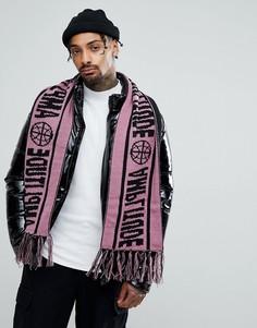Сиреневый шарф с футбольным принтом ASOS - Фиолетовый